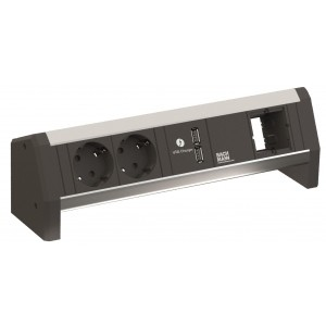 Desk 1 met USB lader en custom module 902.0182