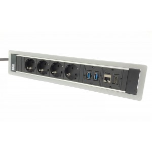Power frame 6 vaks met 2xusb, cat6 en hdmi