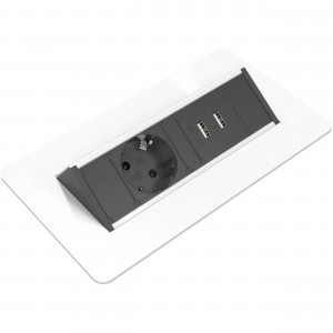 Quickbox inbouw stekkerdoos wit small USB laders